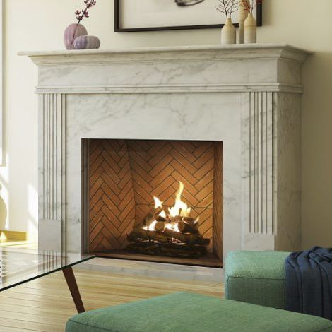 Gas Fireplace Traditional Open Hearth Built In Minimal 130