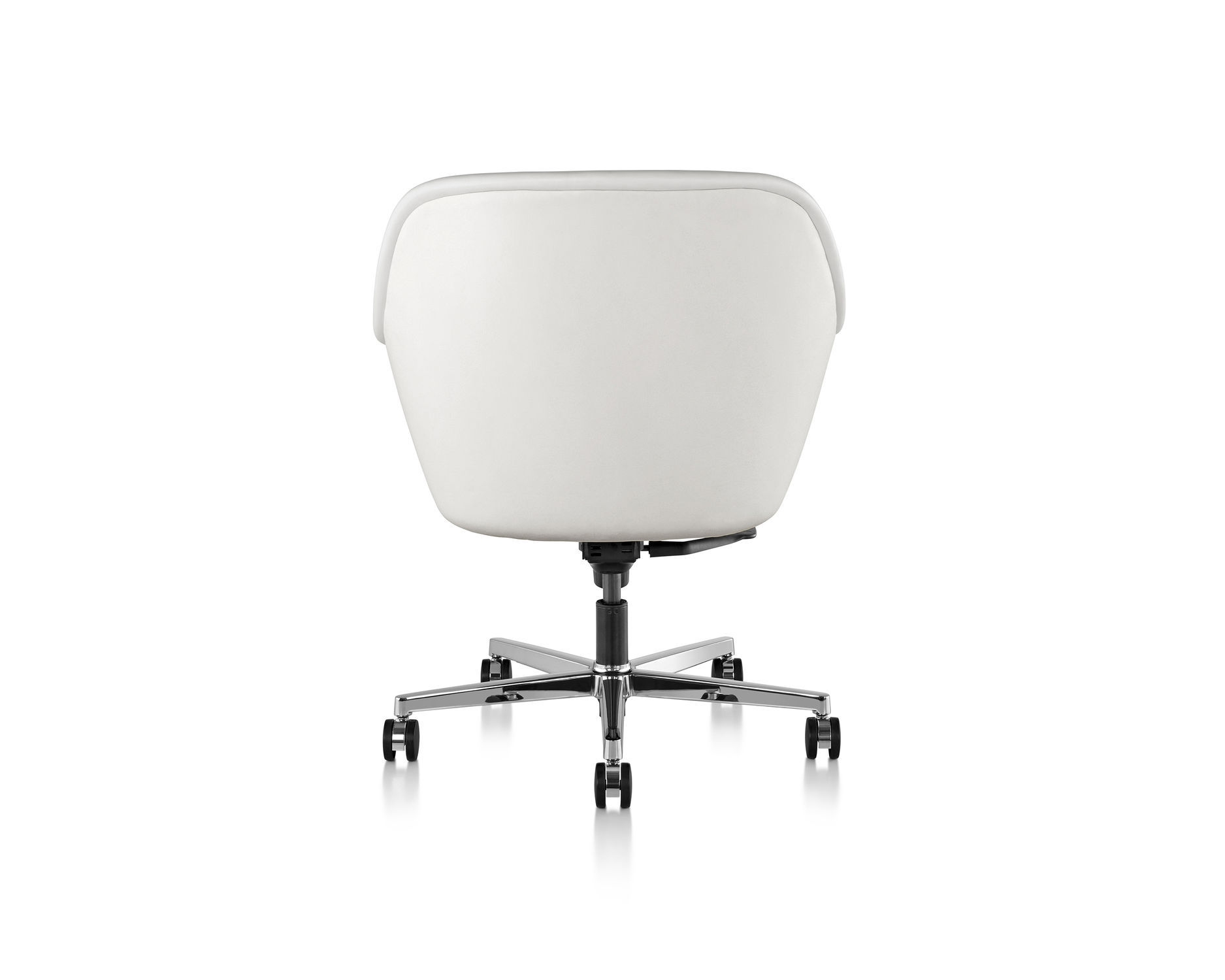 ... Conference Chair With Armrests / Upholstered / On Casters / Swivel  BUMPER By Ward Bennett Geiger ...