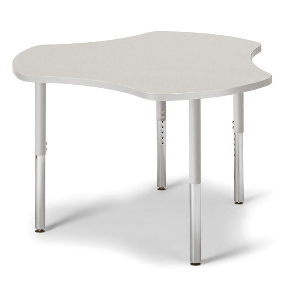 Contemporary Classroom Table / Laminate / Steel / Round   BERRIES®  COLLABORATIVE