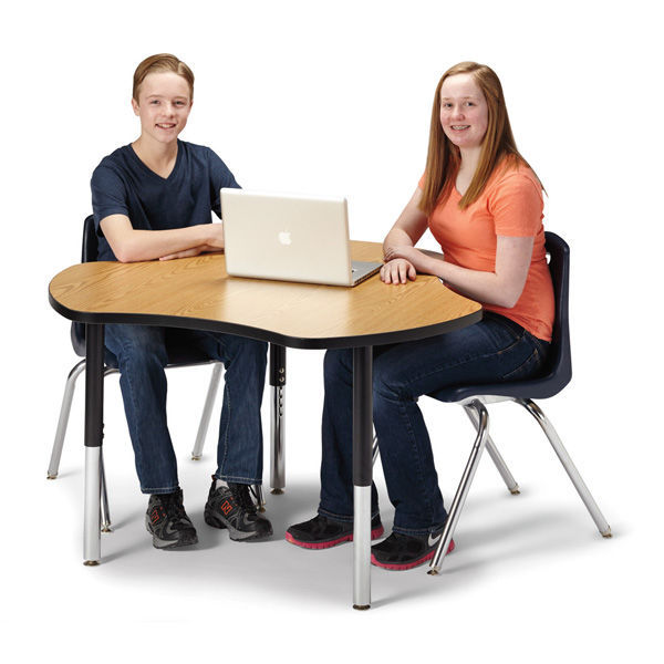 ... Contemporary Classroom Table / Laminate / Steel / Round BERRIES®  COLLABORATIVE Jonti Craft, ...