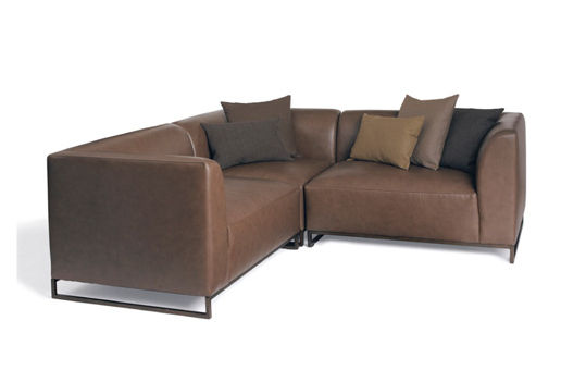 Moderne eckcouch leder  Corner sofa / contemporary / leather / 3-seater - CALVIN KLEIN HOME