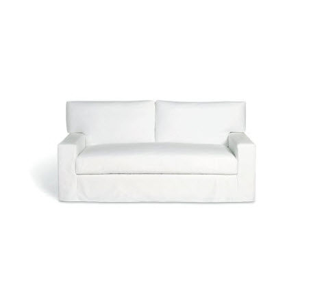 Contemporary Sofa Fabric 2 Person White 72 Studio