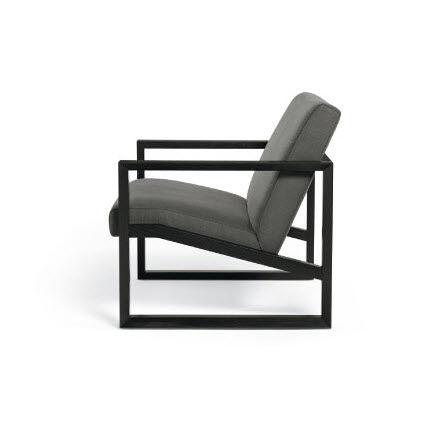 contemporary armchair ash sled base framed - Wood Frame Armchair