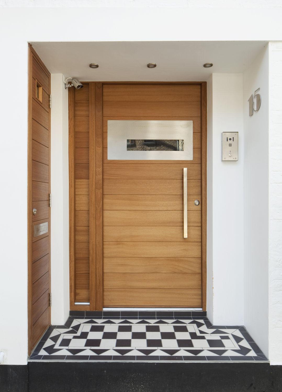 Entry door / swing / oak / security - FERRARA E80 - Urban Front