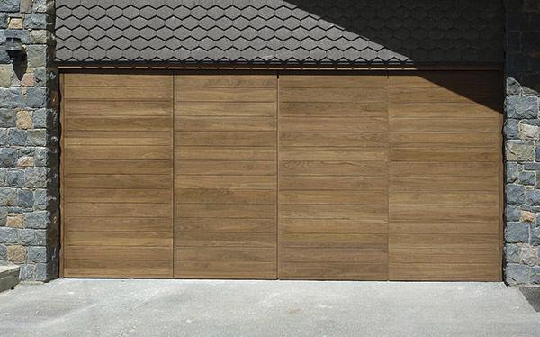 Folding Garage Door Wooden Manual Urban Front