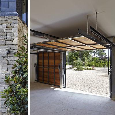 Tilting Garage Door Wooden Manual Automatic Urban Front