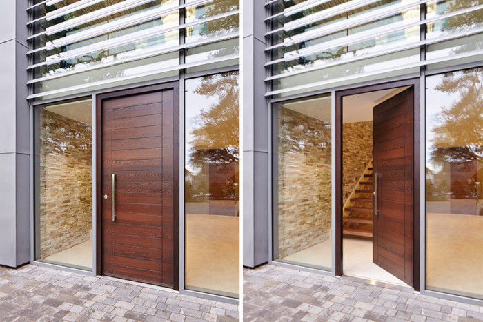 Entry Door Pivoting Solid Wood Security Oslo E80 Urban Front