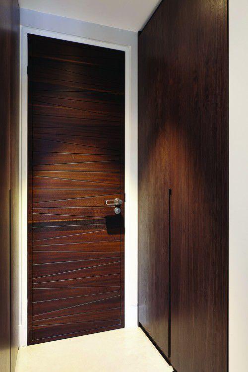 Indoor door / swing / solid wood / acoustic MILANO Urban Front ... & Indoor door / swing / solid wood / acoustic - MILANO - Urban Front