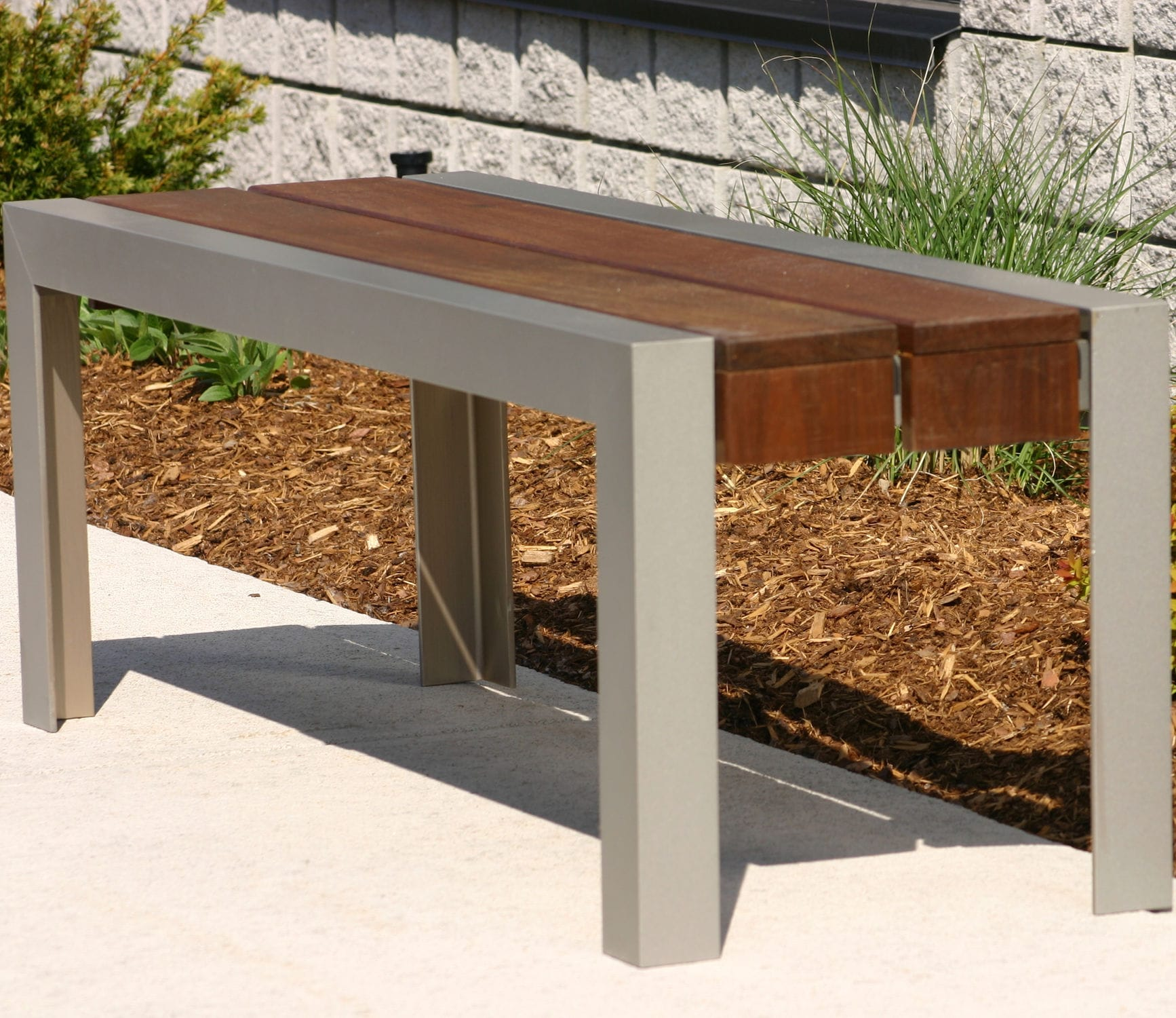 Public Bench  Contemporary  Ipe  Steel MLBB Maglin Site - Ipe outdoor furniture
