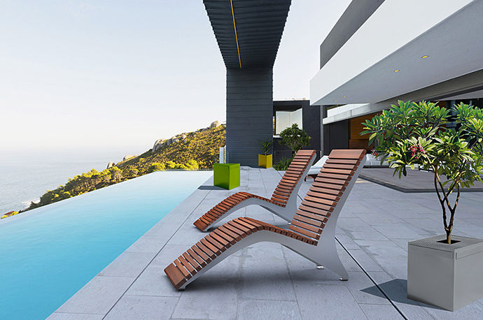 ... Contemporary Sun Lounger / Ipe / Steel / For Public Spaces MCL720  Maglin Site Furniture ...