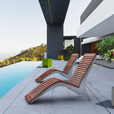 Contemporary Sun Lounger / Ipe / Steel / For Public Spaces   MCL720