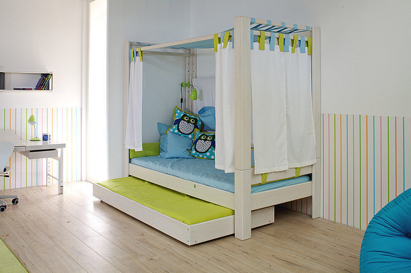 Möbel Single canopy bed pull out single contemporary debe deluxe