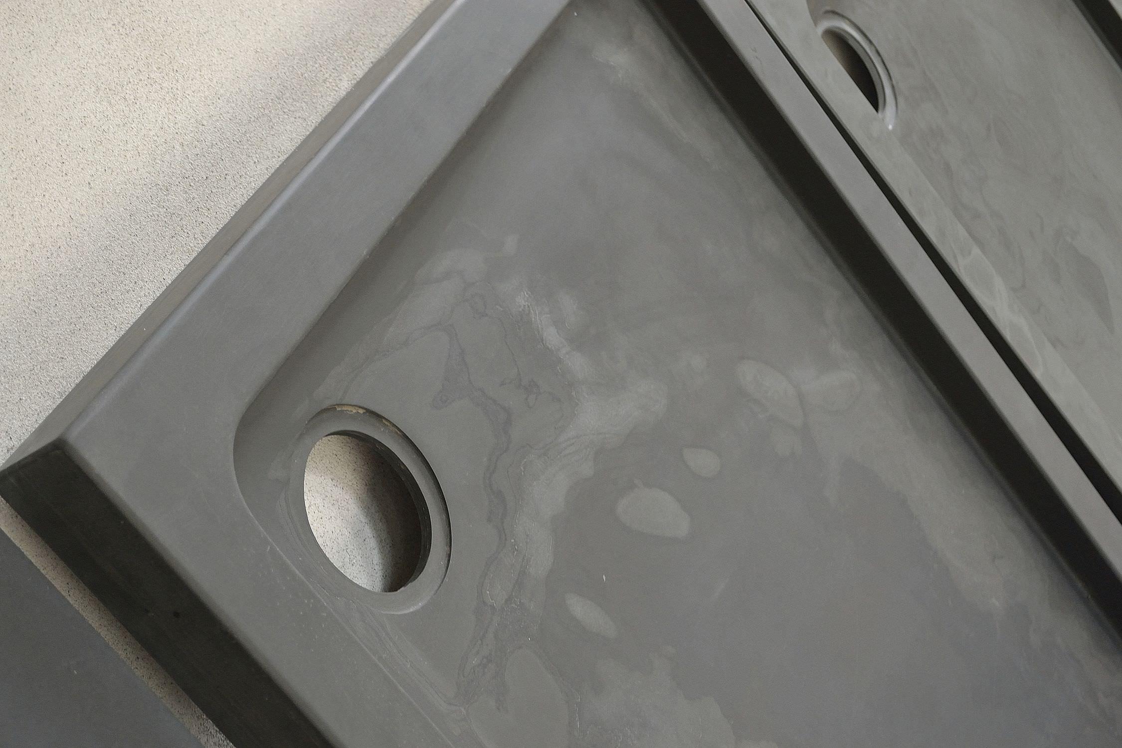 Square shower base / natural stone / non-slip / custom - BLACK ...