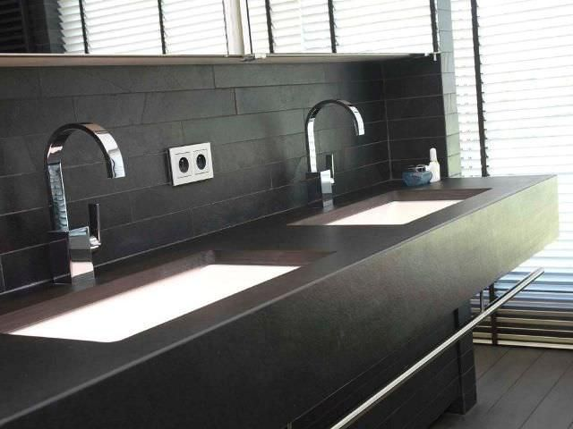Natural stone kitchen worktop / kitchen - TOP CUCINA ARDESIA BLACK ...