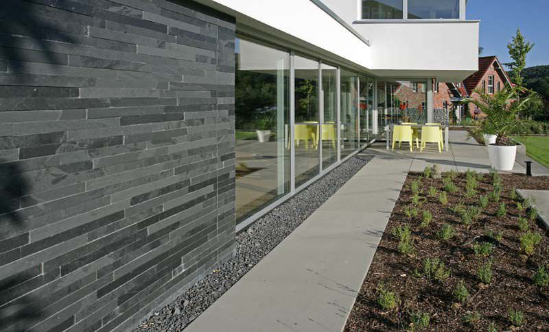 Exterior Slate Wall Tile Installation - Tile Designs