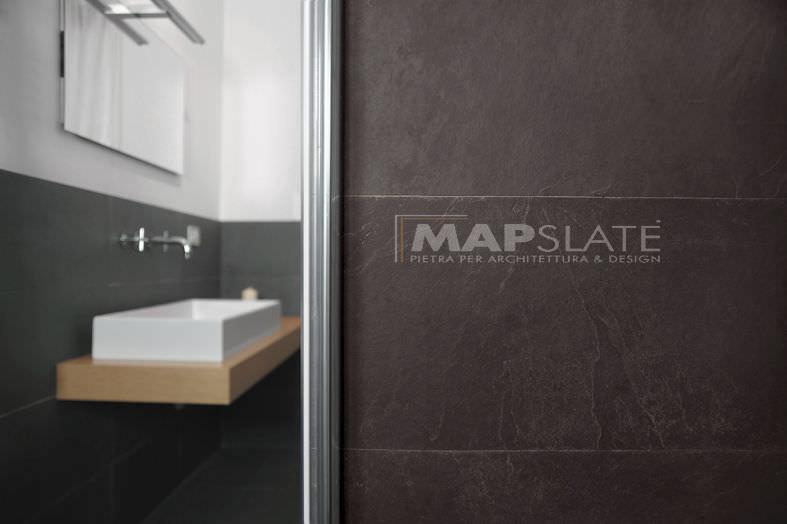 indoor tile / floor / natural stone / matte - PURPLE SLATE WALL CLADDING