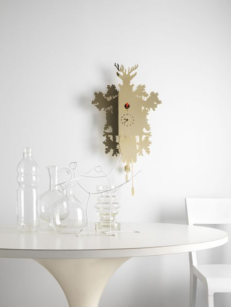 Contemporary clock / analog / wall-mounted / wooden - CUCÙ by Pascal ...