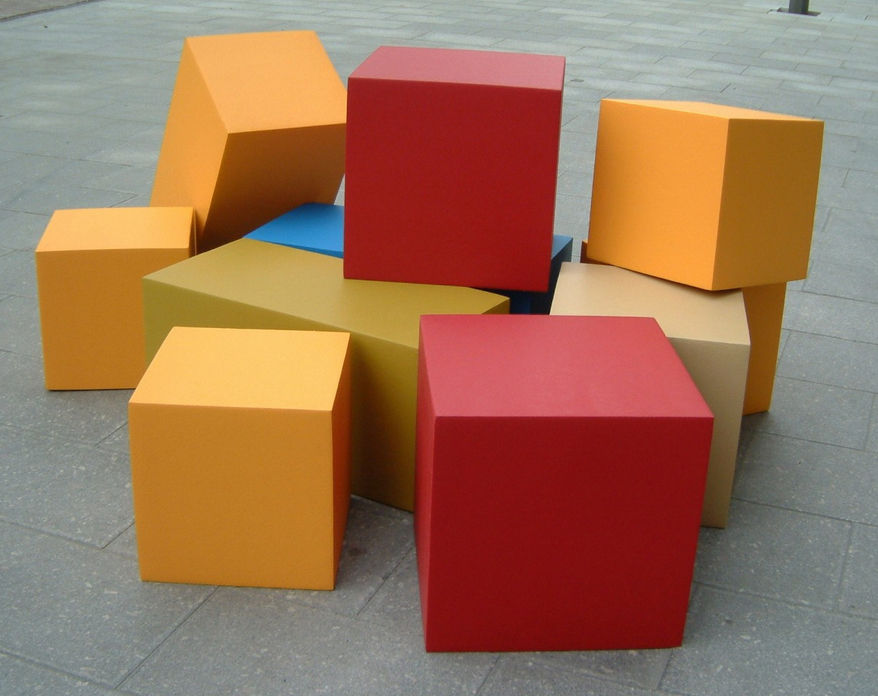 ... Contemporary Pouf / Foam / Square / For Public Buildings BLOCKS By  Pieter Jamart SIXINCH Furniture ...