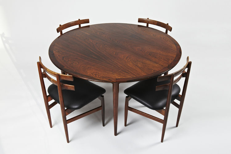 Gentil ... Scandinavian Design Dining Table / Rosewood / Round / Oval ...