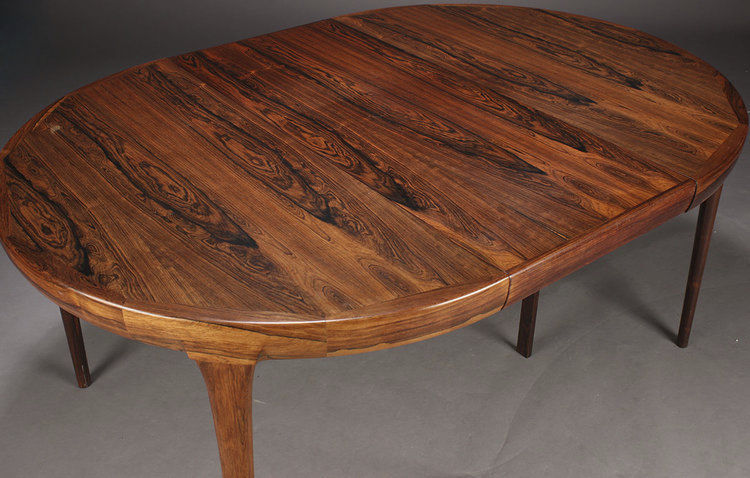 Scandinavian Design Dining Table / Rosewood / Round / Oval ...