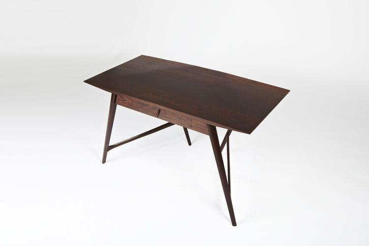 solid wood desk wenge design stealthier paere dansk