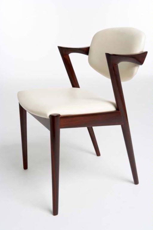 Genial Scandinavian Design Dining Chair / Upholstered / With Armrests / Rosewood    1957 90 CARVER By K. Kristiansen