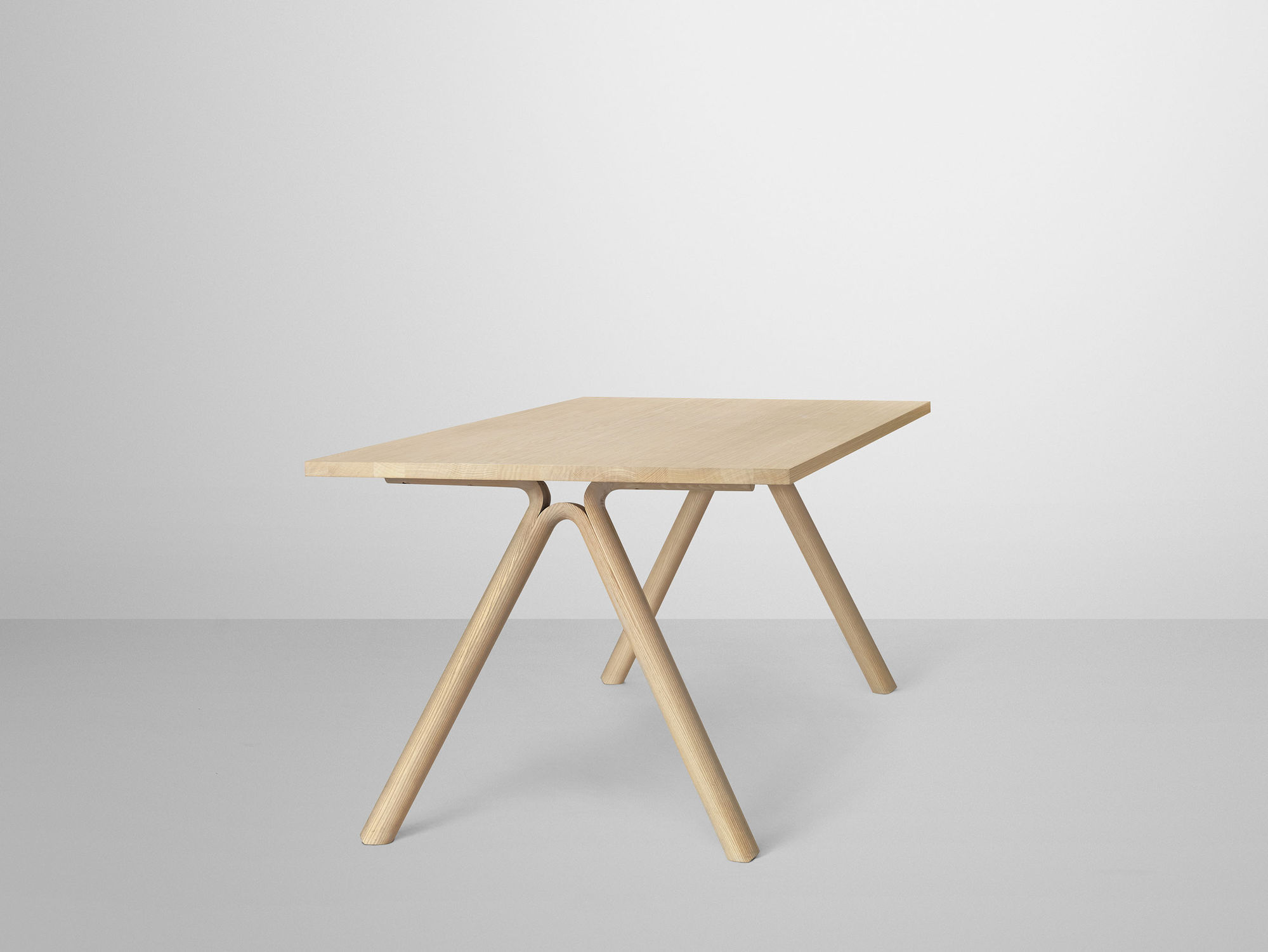 Scandinavian design table oak ash rectangular SPLIT by