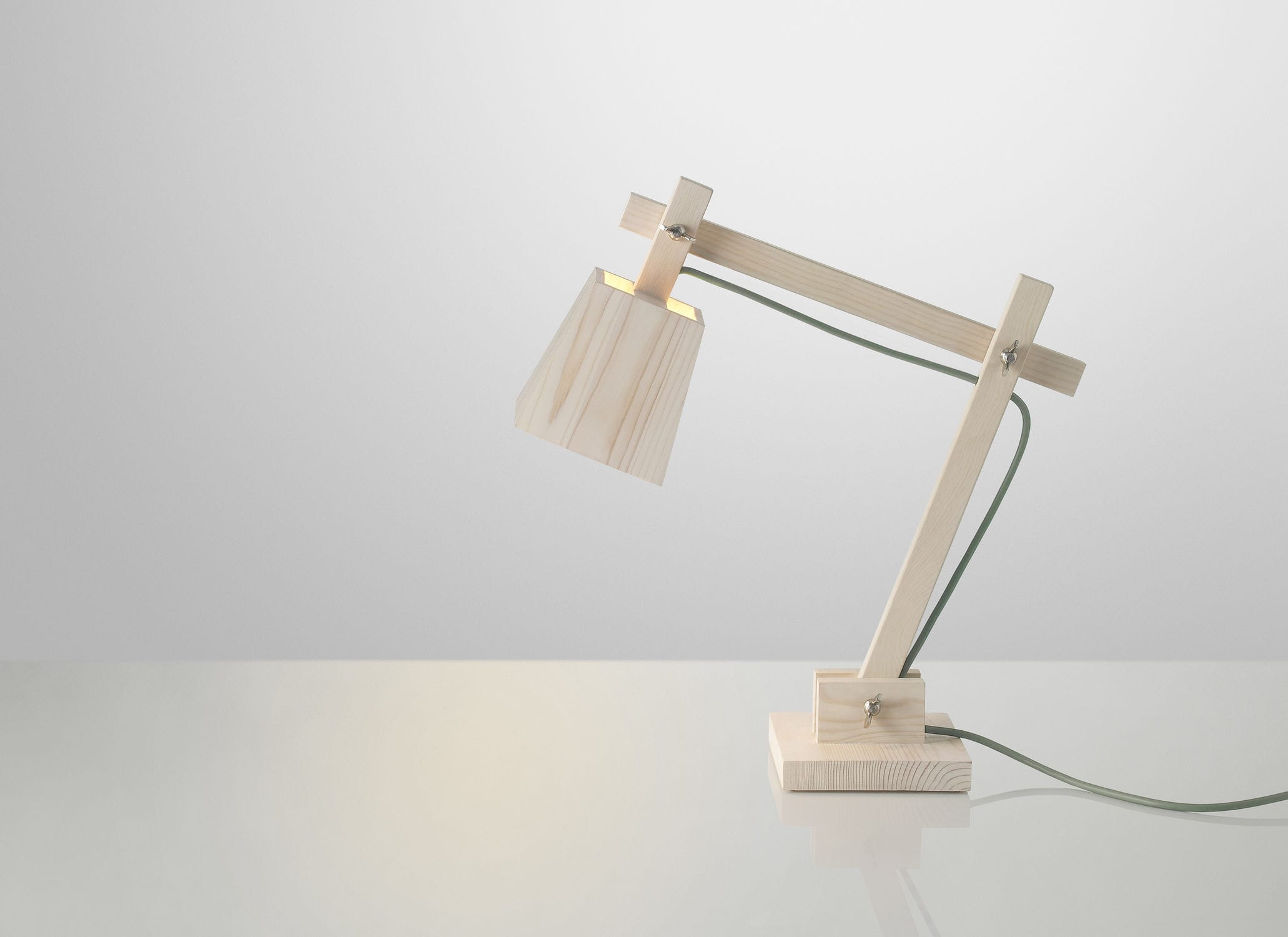 Desk Lamp Original Design Wooden Swing Arm