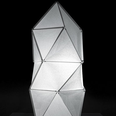 Floor lamp / contemporary / Japanese paper / LED - FOLD: ICE CUBE M ...