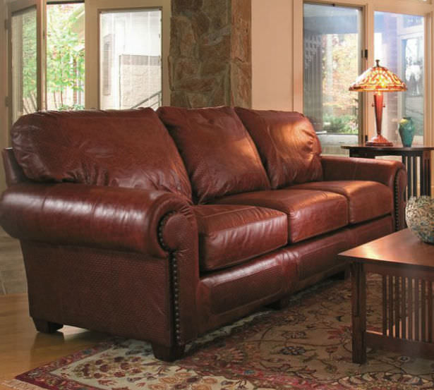 Traditional Sofa / Leather / 3 Seater / Brown   SANTA FE