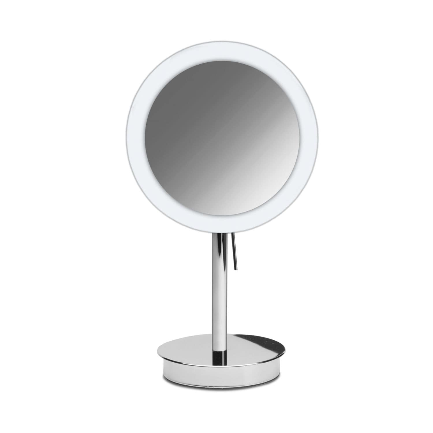 Table bathroom mirror / magnifying / LED-illuminated / contemporary ...