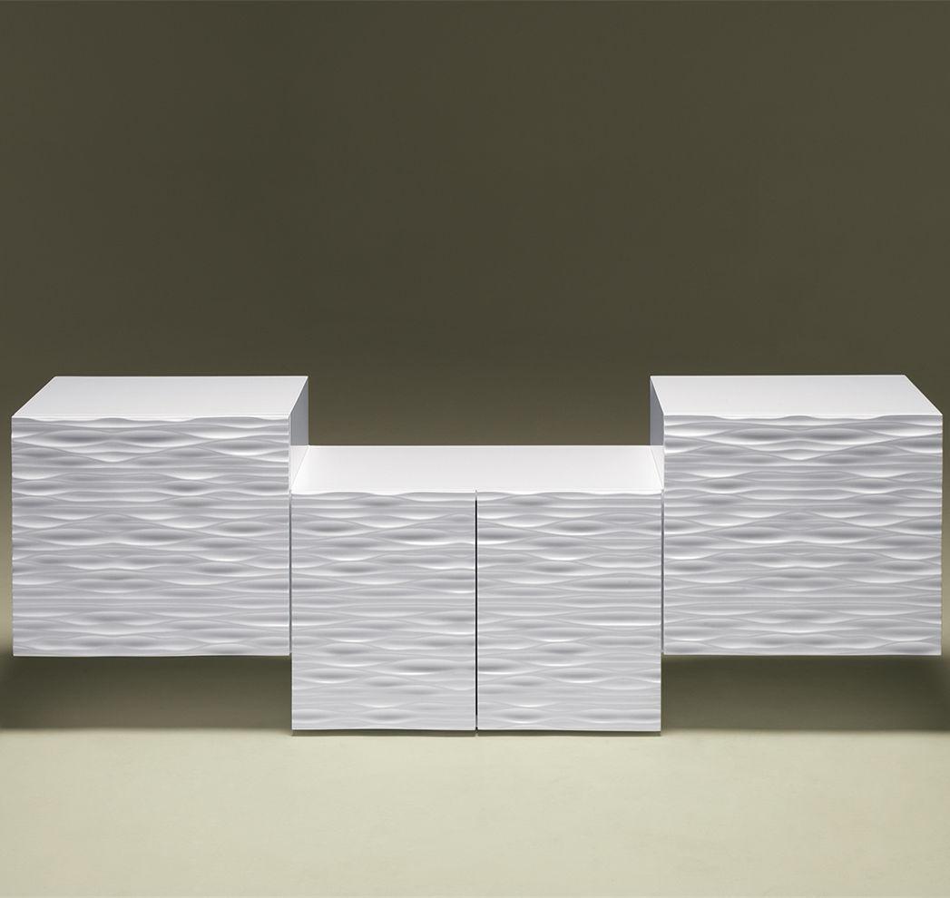 Sideboard Design original design sideboard lacquered wood white loop weg