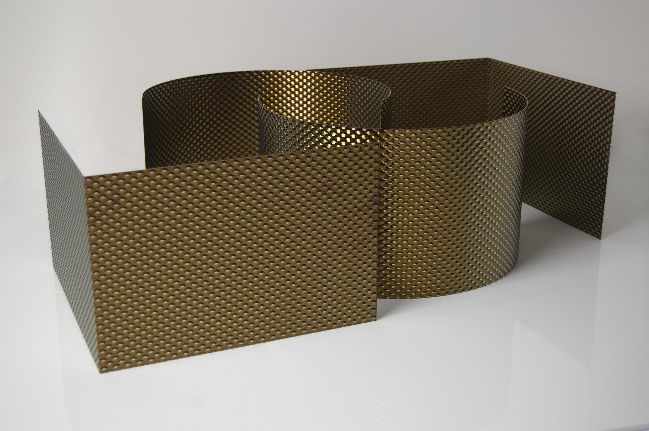 Patterned sheet metal / stainless steel / for facade cladding ...