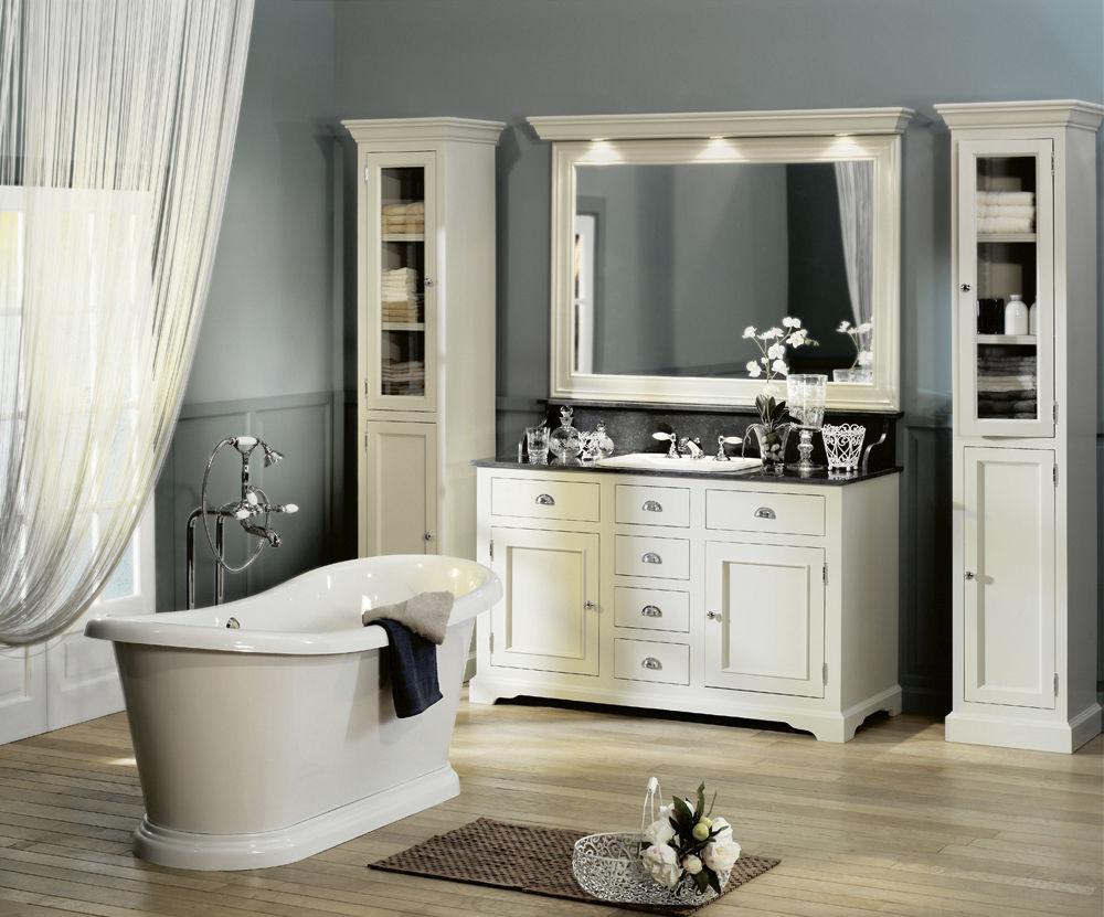 Traditional Bathroom Wooden Ensemble Carlton 01 Aqua Prestige # Meubles Style Cottage