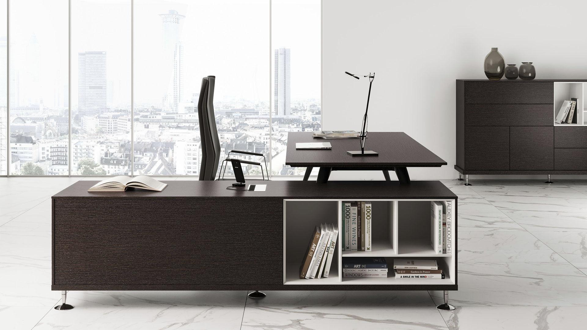 Executive Desk Wooden Contemporary Commercial