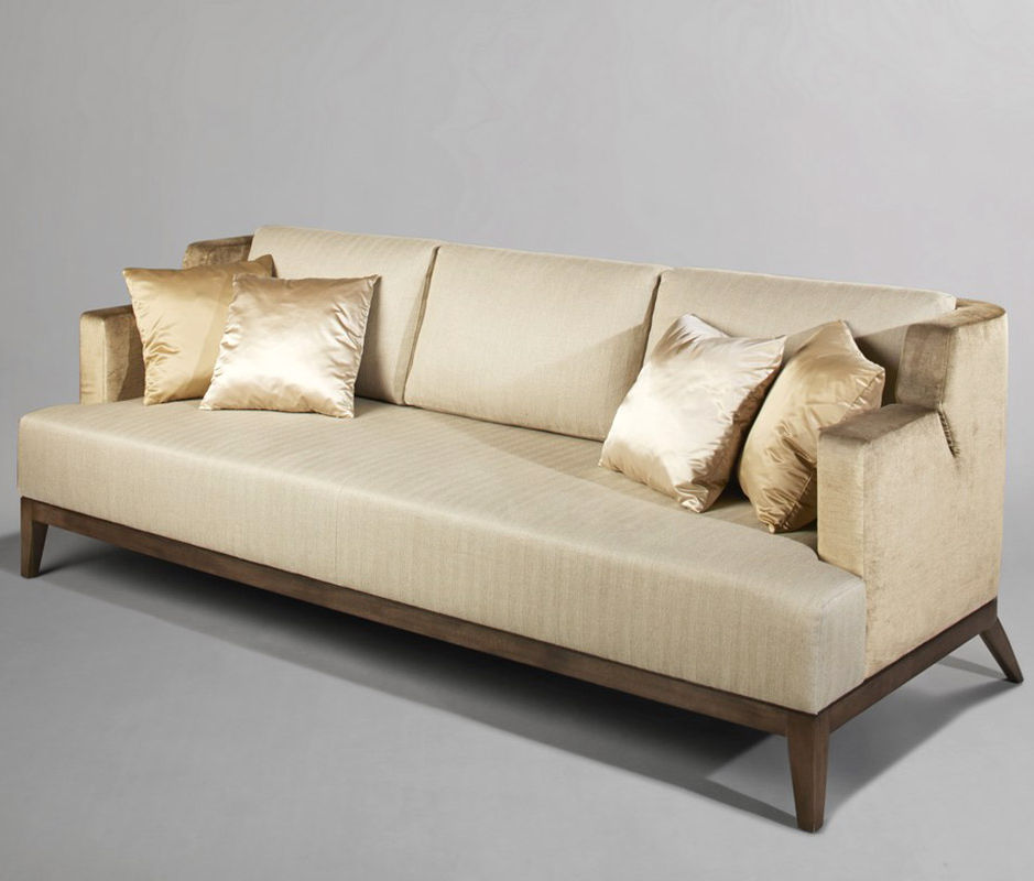 Contemporary Sofa / Velvet / Satin / Beech   TOIu0026MOI By Elliott Barnes