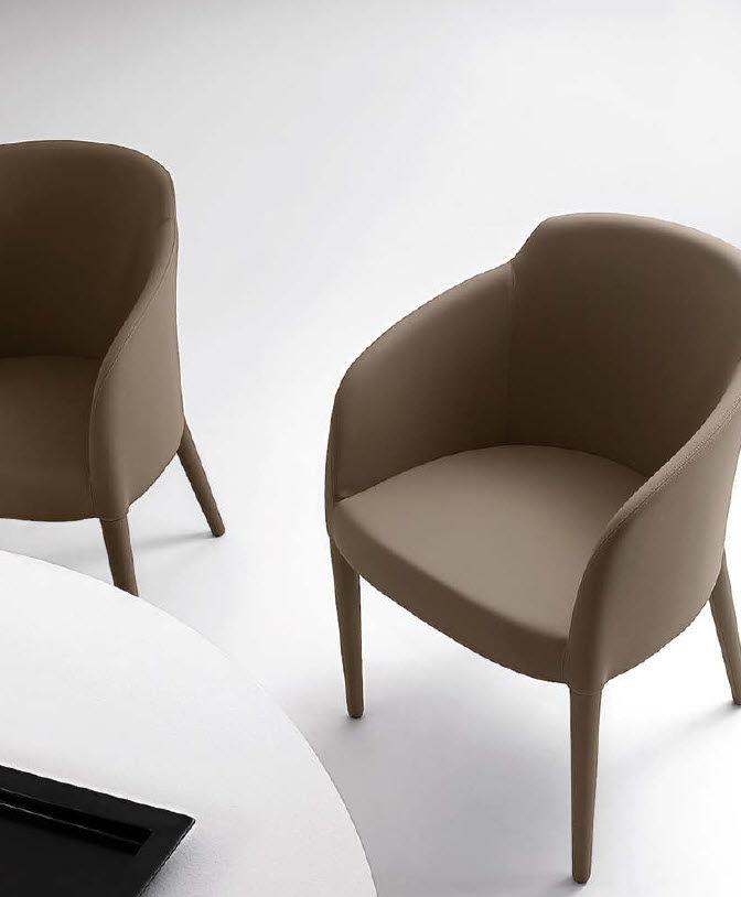 Contemporary armchair leather bridge STELLA RICCARDO
