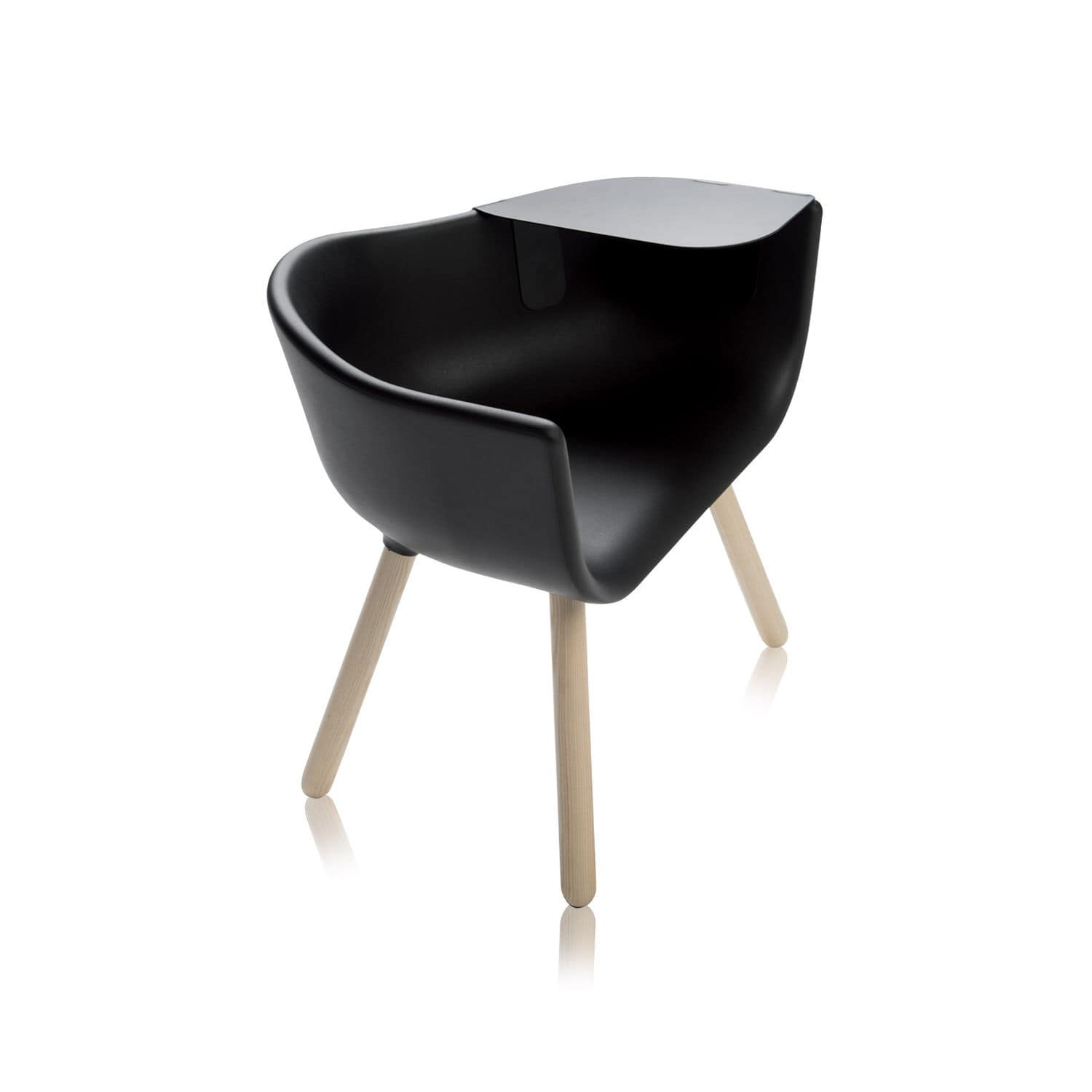 Original Design Armchair / Wooden / Polyurethane / Tablet   TULIP LARGE By  Kazuko Okamoto