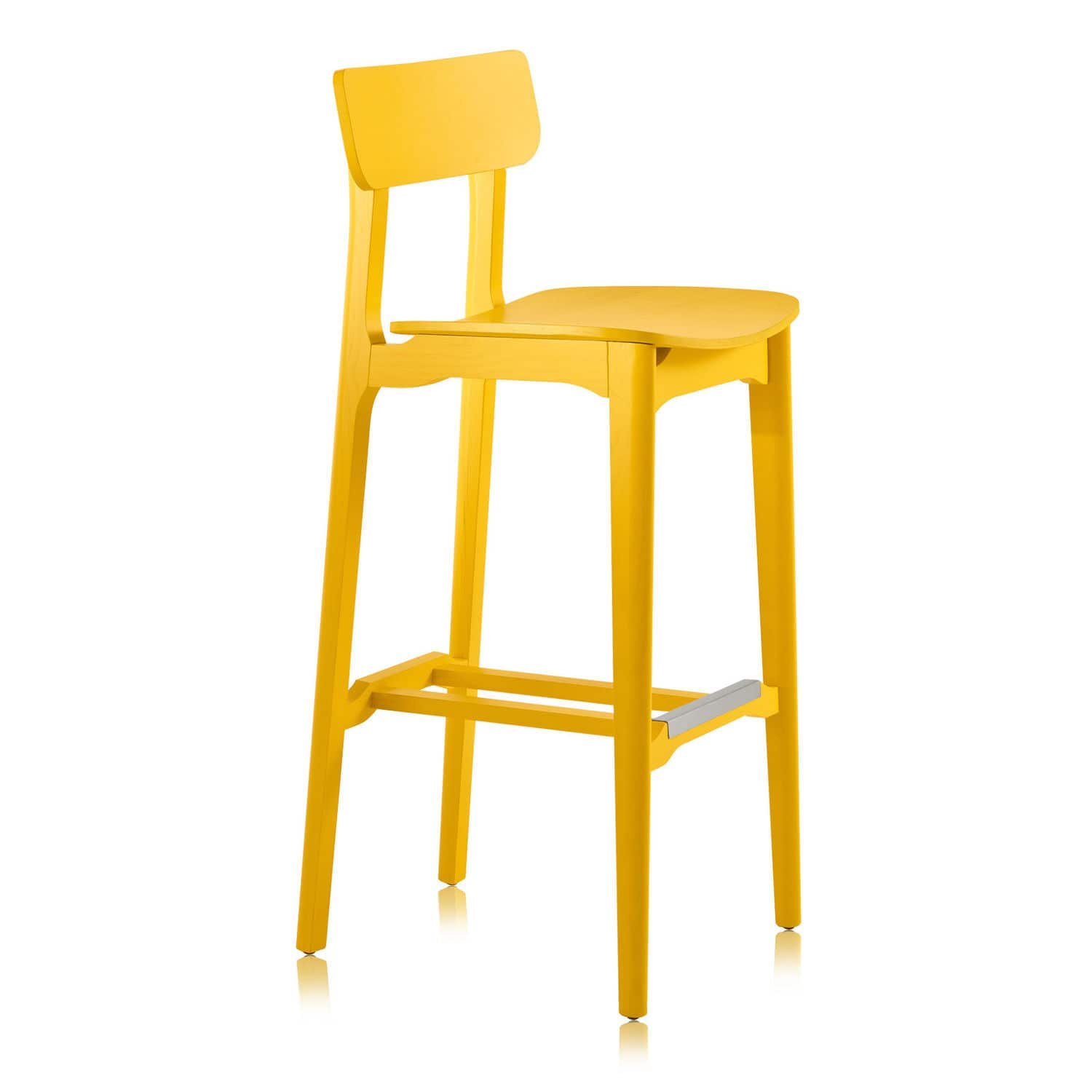 Contemporary bar chair wooden contract yellow CACAO L SG
