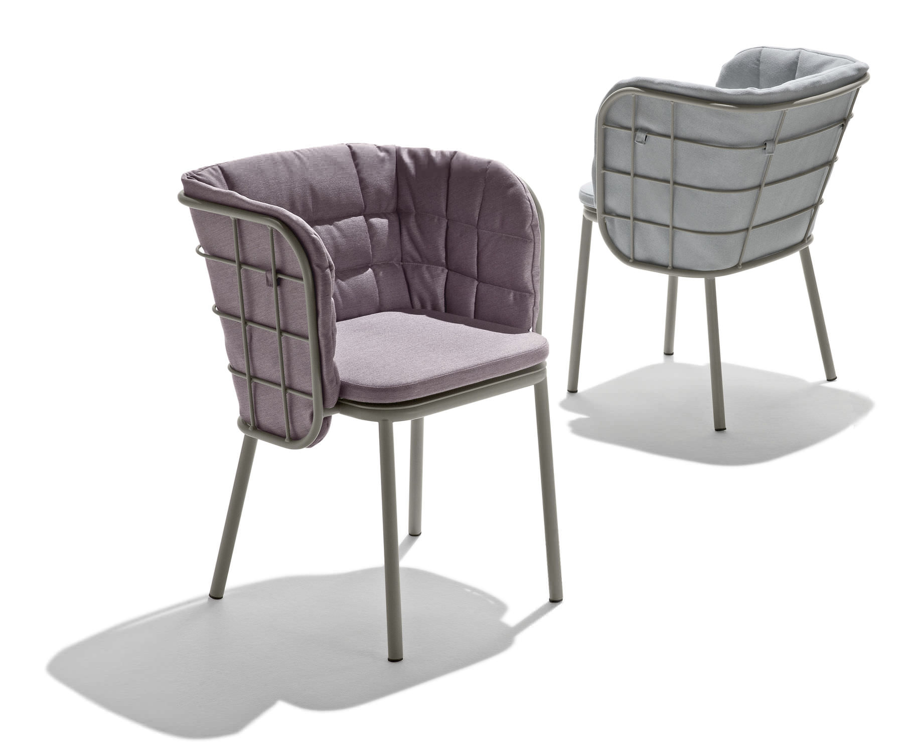 contemporary chair  metal  fabric  upholstered  jujube sp b by  -  contemporary chair  metal  fabric  upholstered jujube sp b by pbdesign studio chairs