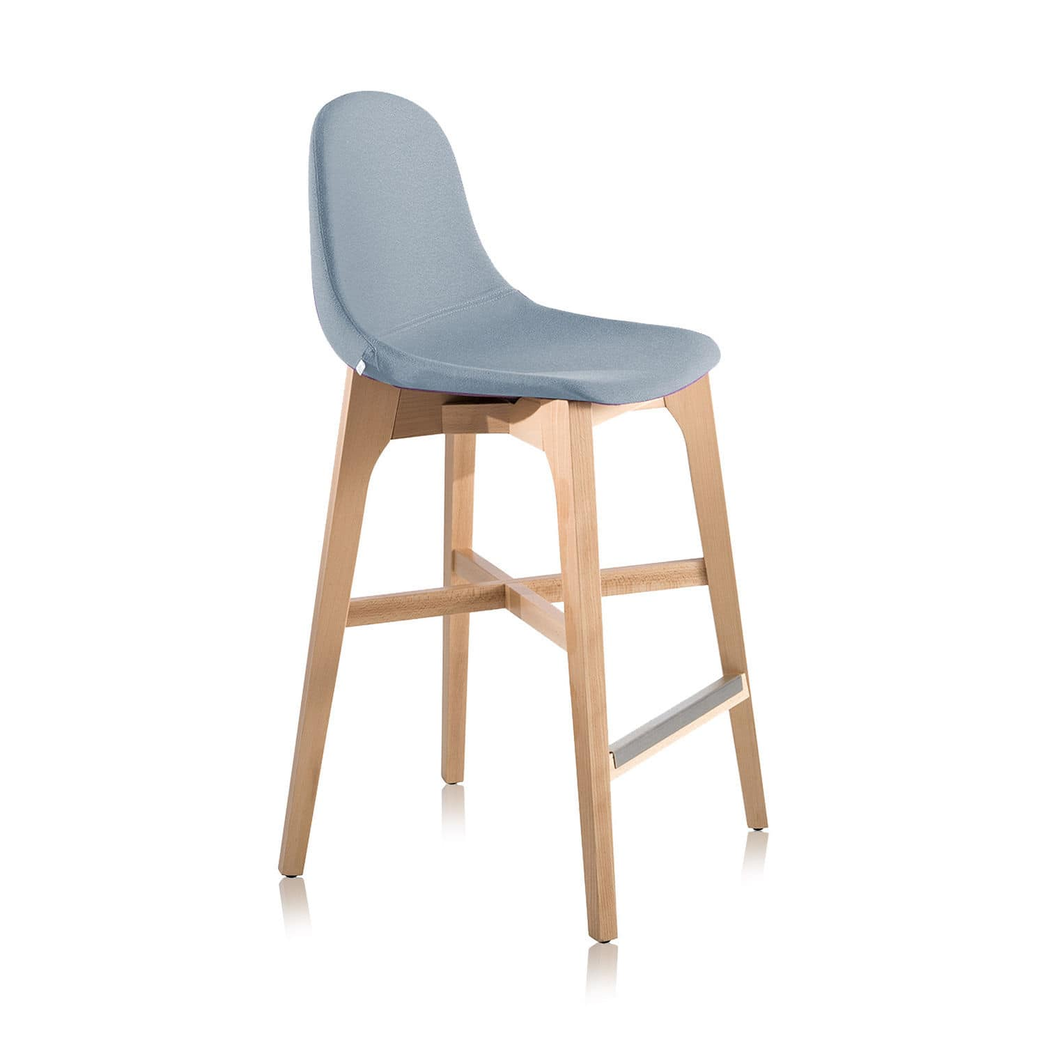 Contemporary bar stool wooden polyurethane mercial