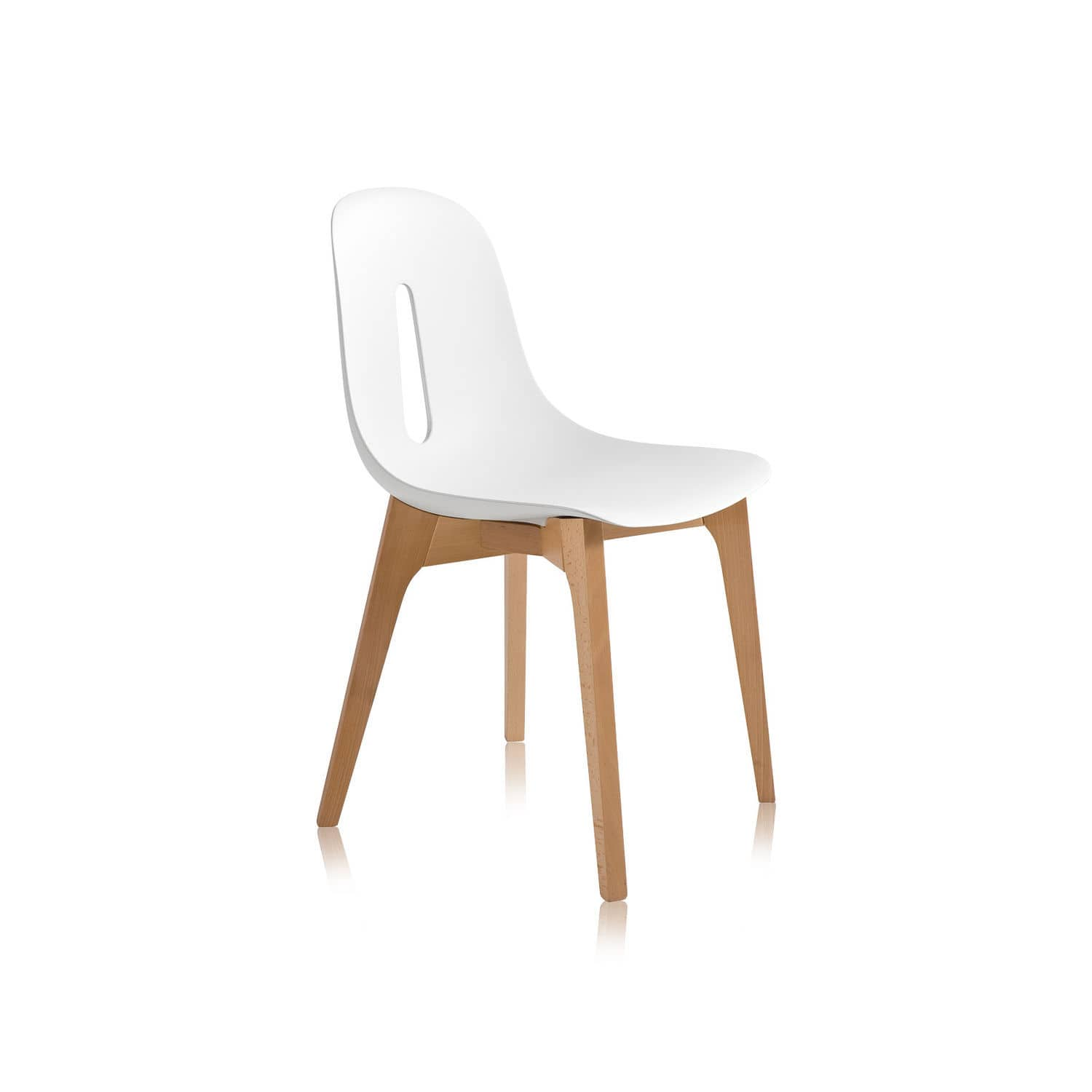 Contemporary Chair / Wooden / Polyurethane / Commercial   GOTHAM W By Dario  Delpin