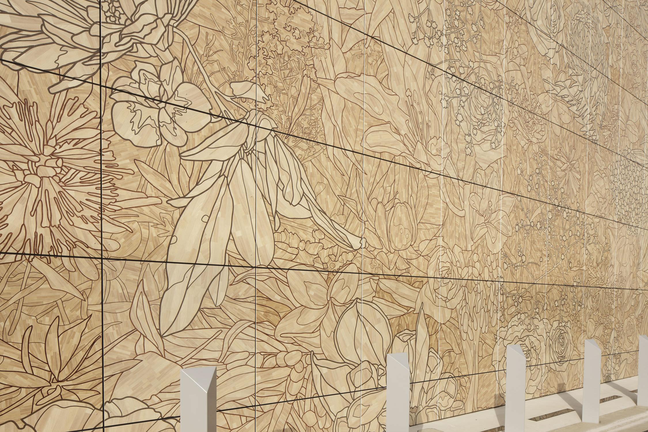 Fiber cement cladding / printed / panel - QEII JUBILEE HOSPITAL ...