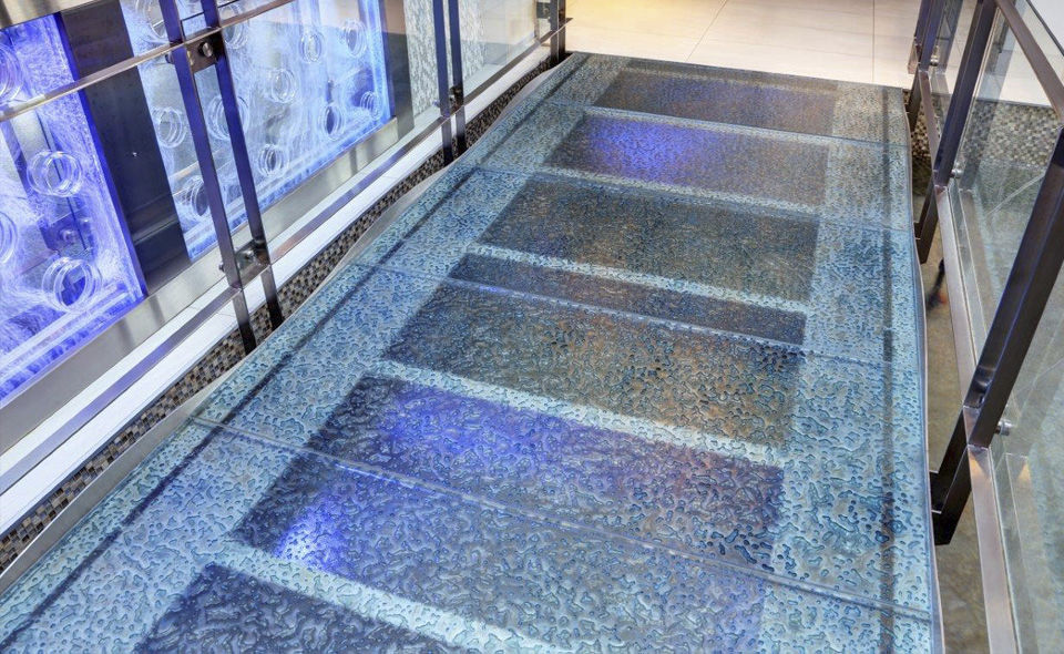 Glass Flooring Residential Tertiary Tile Walking On Water