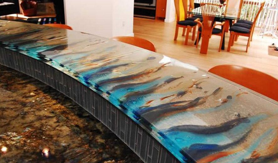 Kitchen Counter / Bar / Glass / Semicircular   ARTFUL DESIGN