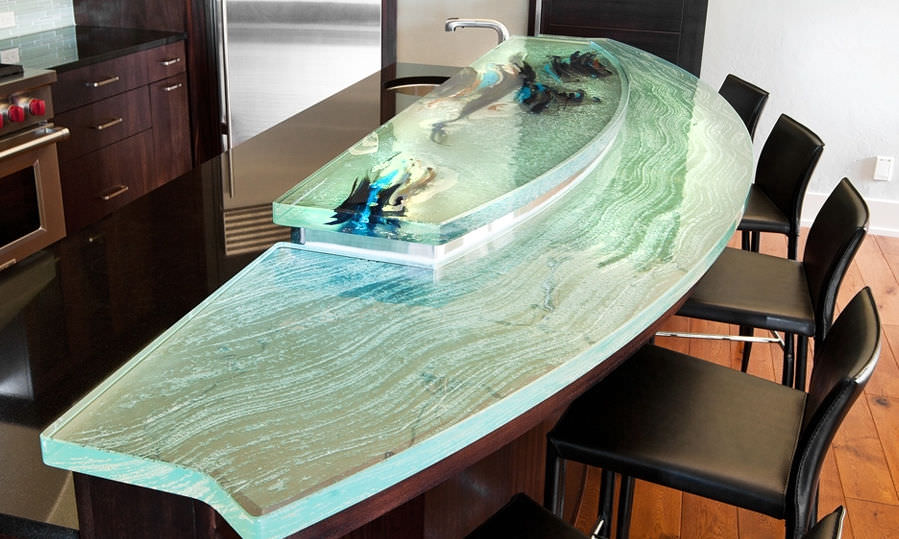 Kitchen Counter / Glass / Curved   GREAT COMBO