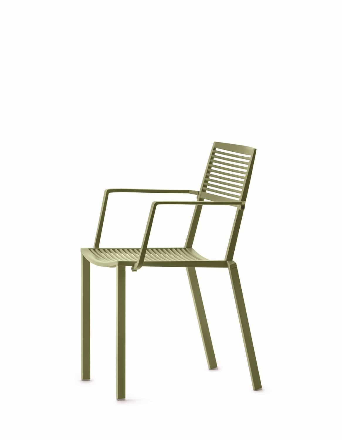 ... contemporary chair / with armrests / stackable / aluminum  sc 1 st  ArchiExpo & Contemporary chair / with armrests / stackable / aluminum - EASY ...