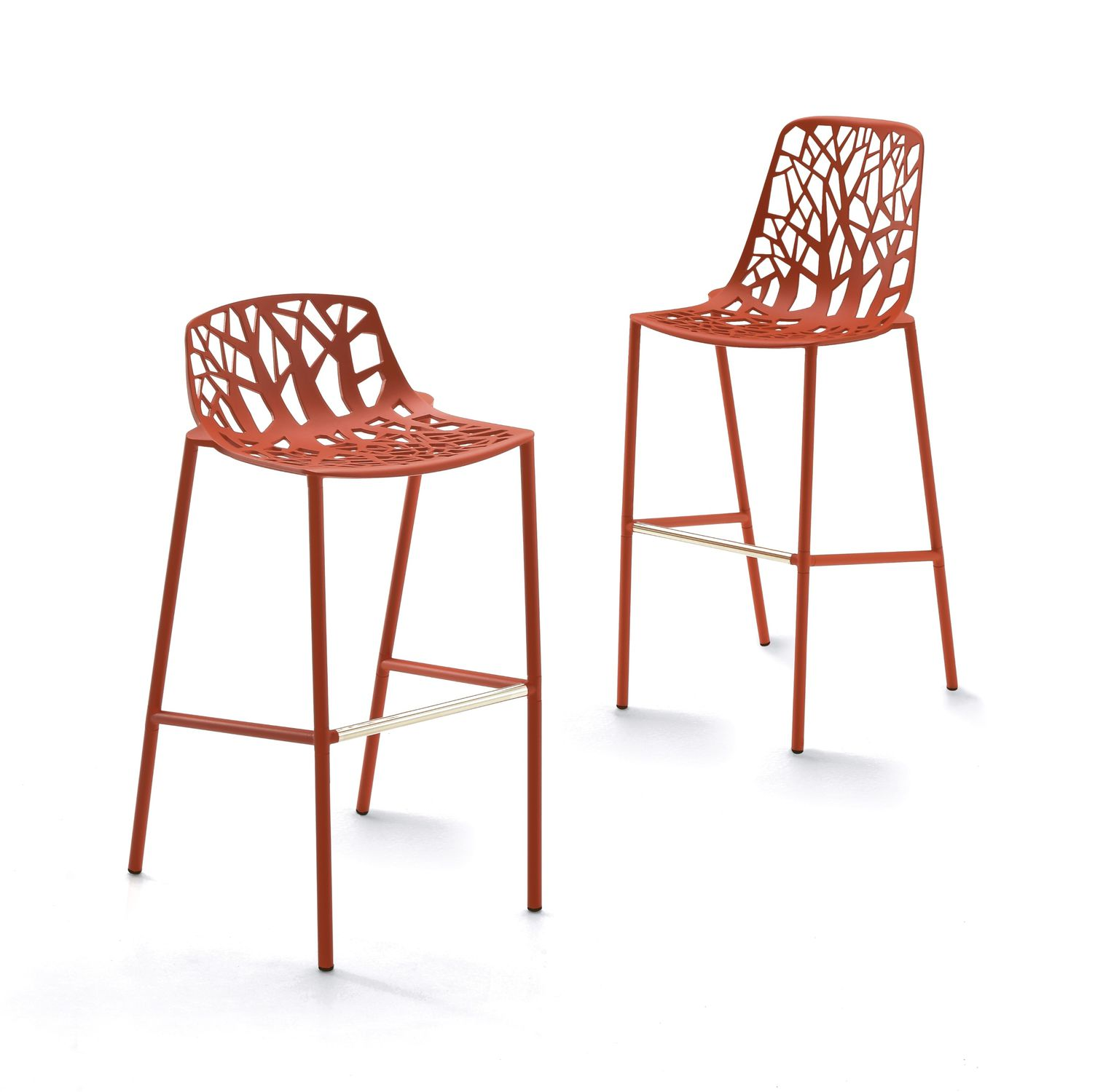 contemporary bar chair stackable cast aluminum outdoor