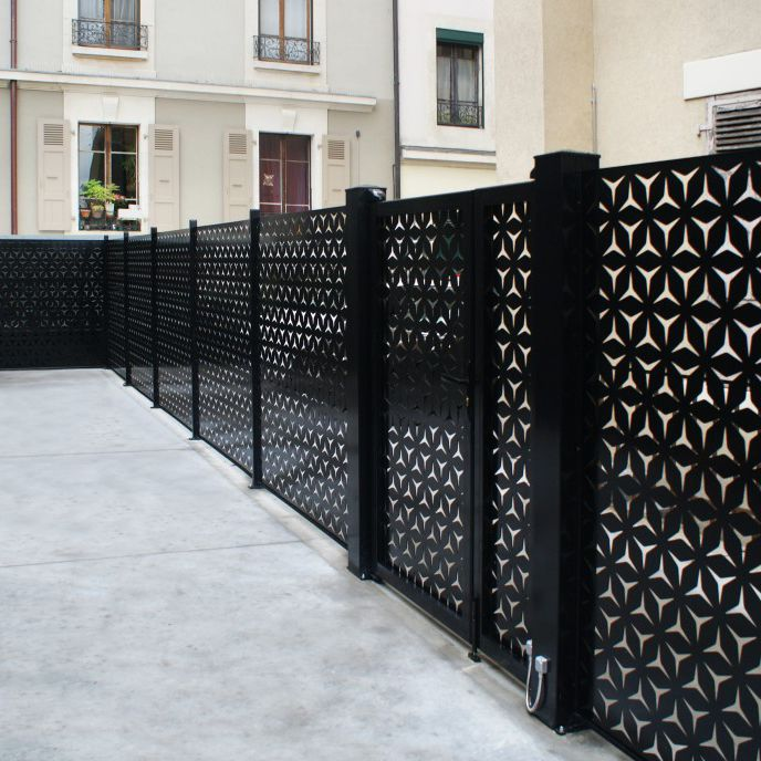 Garden fence / with panels / aluminum / stainless steel - FRANCE RESILLE