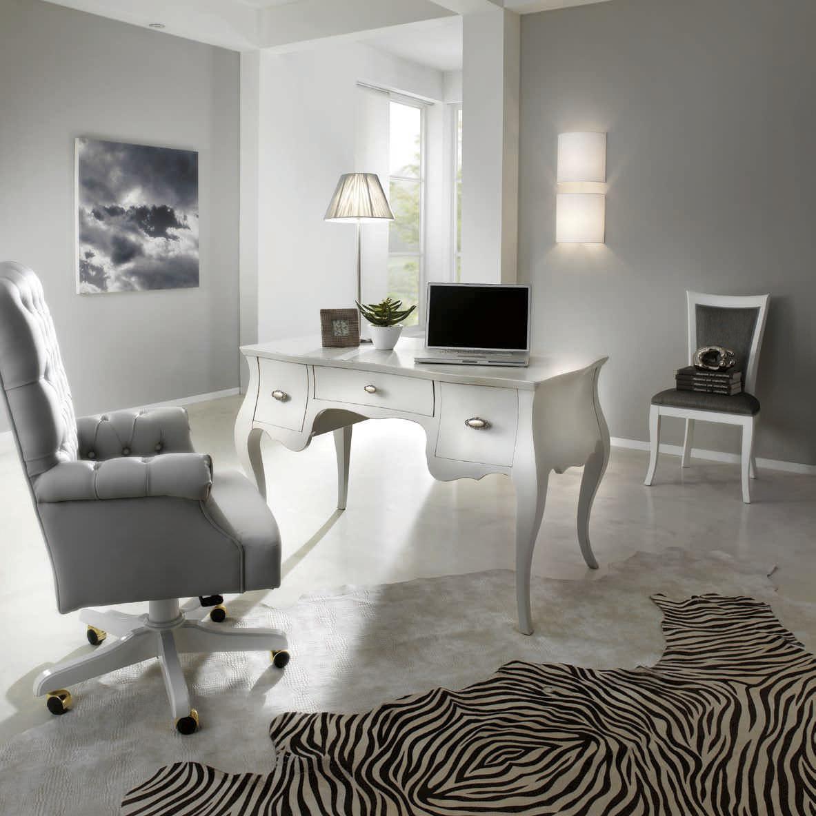 Wooden desk New Baroque design MIRO Bbelle